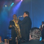 with the Four Tops in Charlotte, 2005