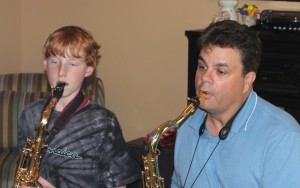 Student Ben C and I working on a Jazz Standard