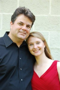 Student Michaela H. and I after her Senior Recital. On her way to Stanford University.
